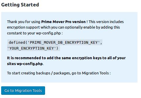 Prime Mover encryption key