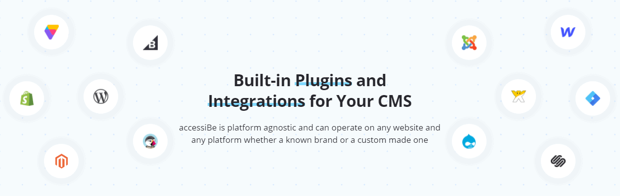 Accessibe plugins and integrations