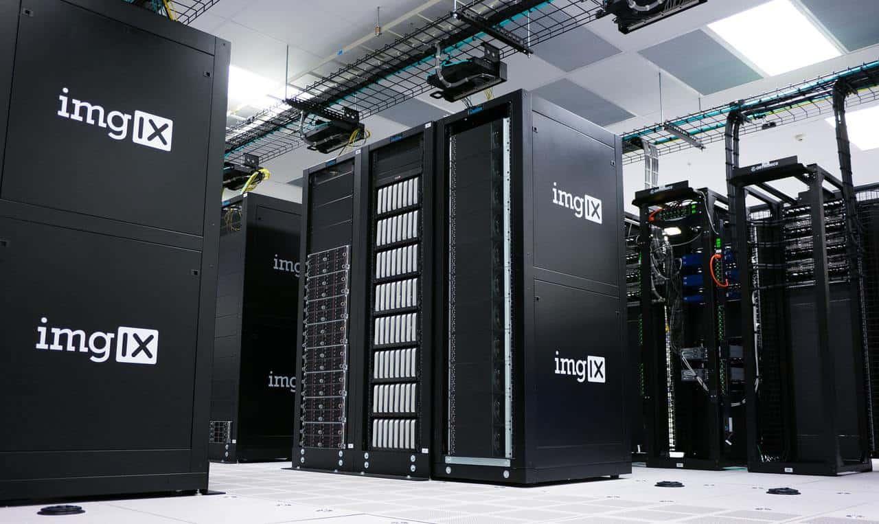 Bright server room