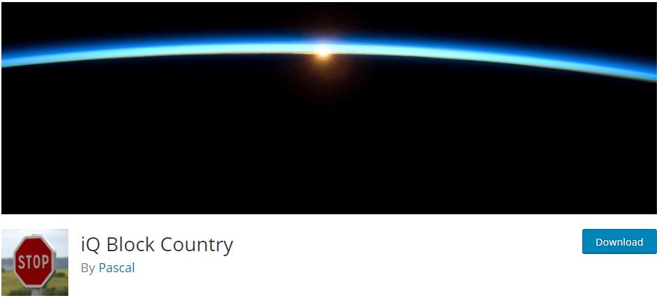 iQ Block Country plugin banner