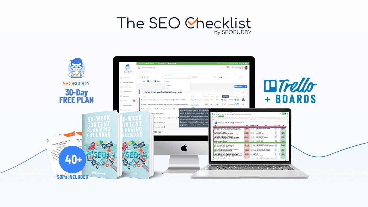 SEO Checklist promo banner