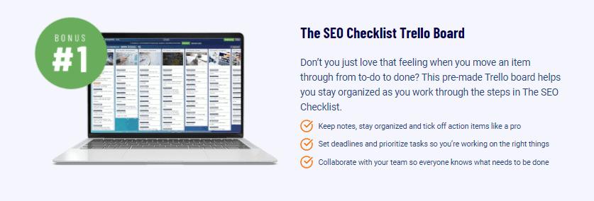 SEO Checklist Trello board