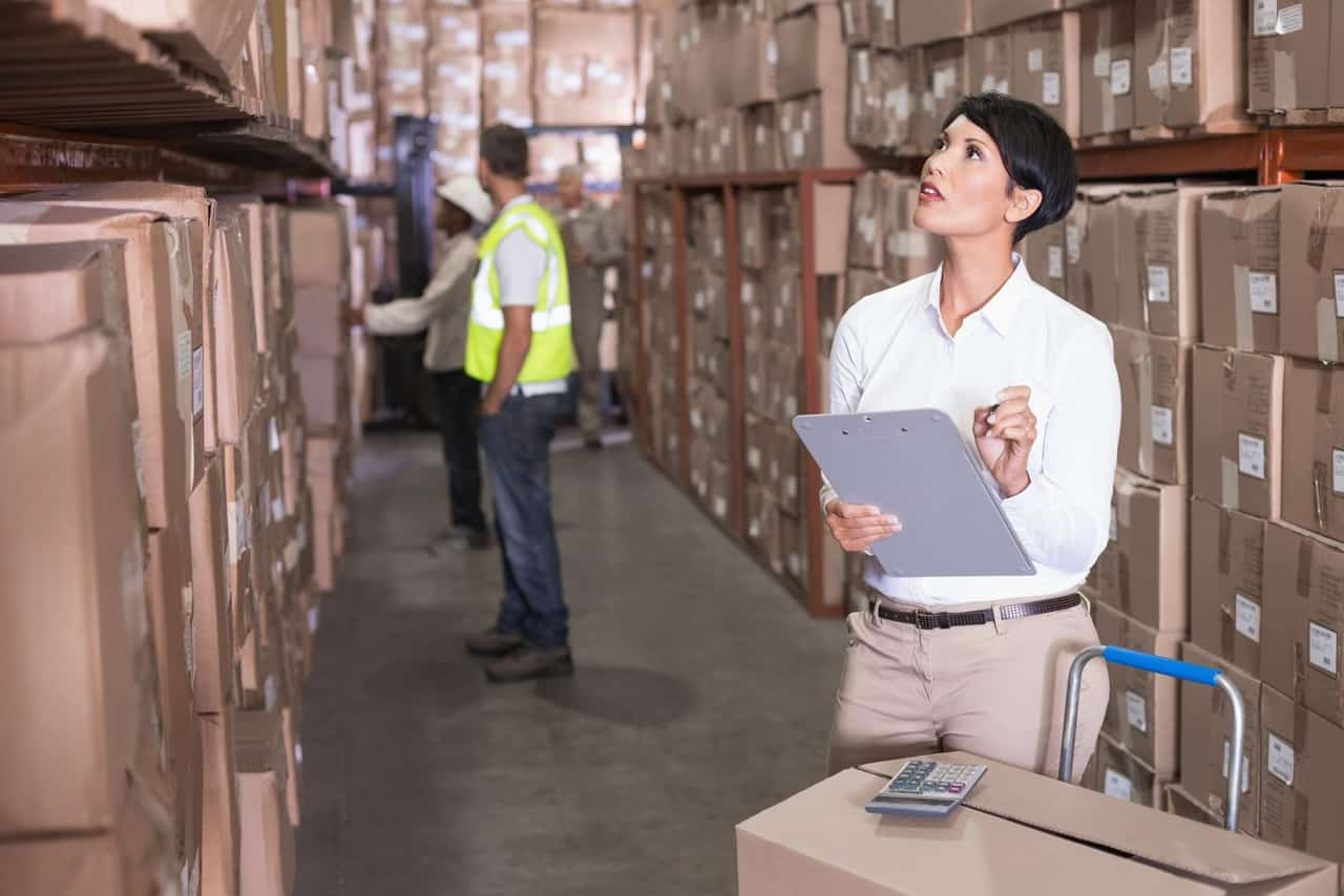 Woman doing inventory management