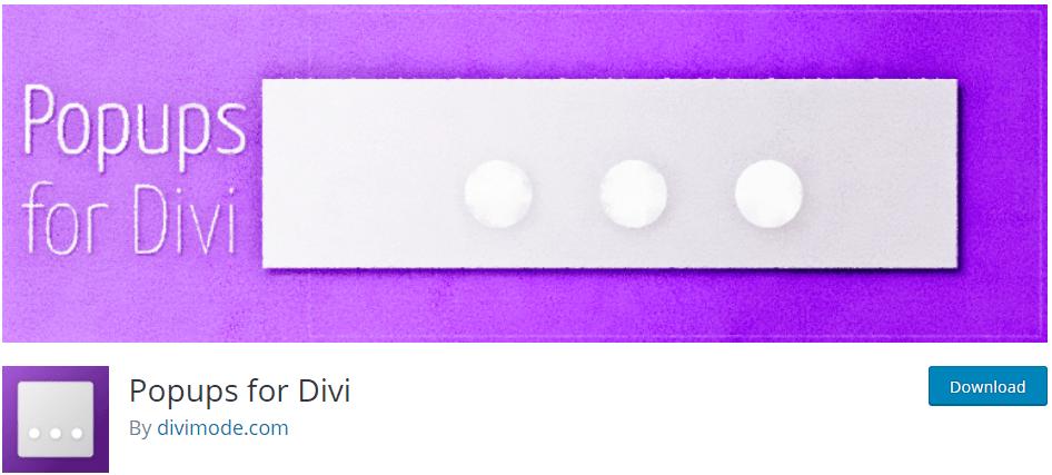 Popups for Divi banner