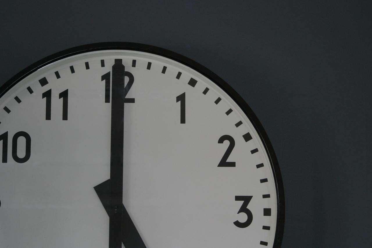 Clock in dark room
