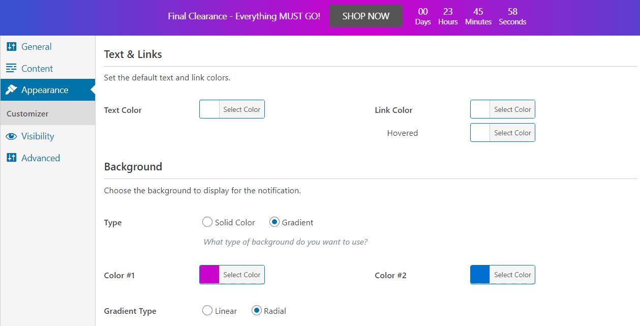 FooBar appearance tab