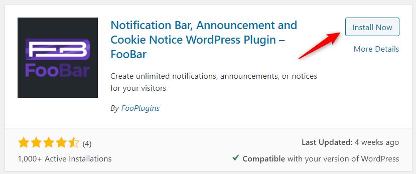 FooBar installation