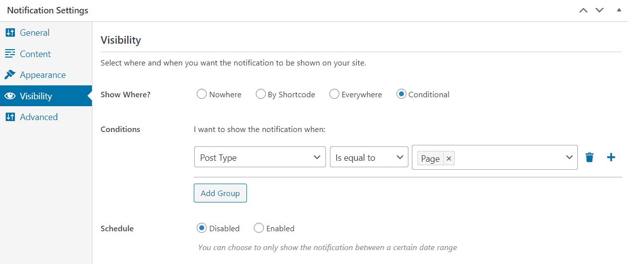 FooBar visibility tab