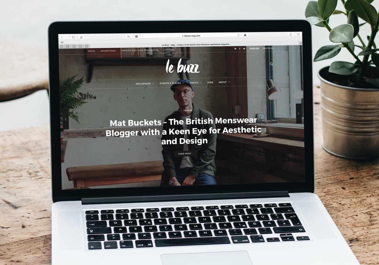 Le Buzz website landing page