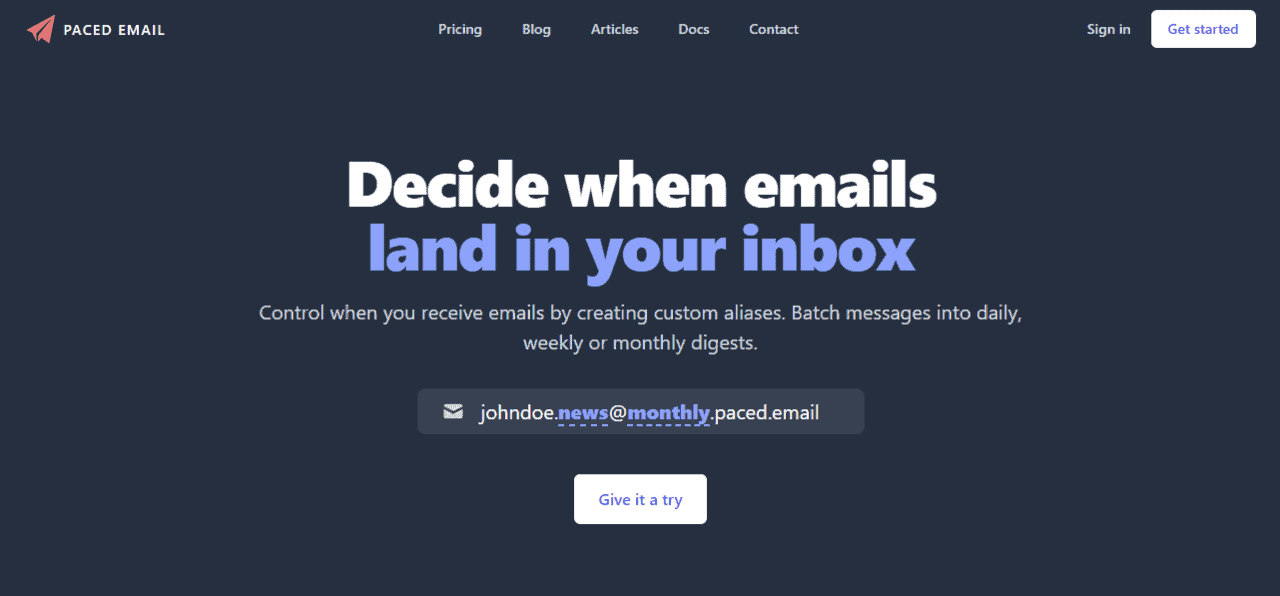 Paced Email