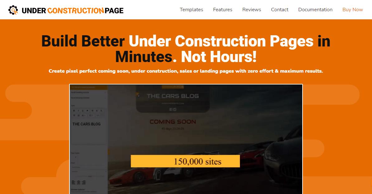 UnderConstructionPage plugin landing page