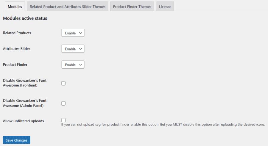 Growanizer main features