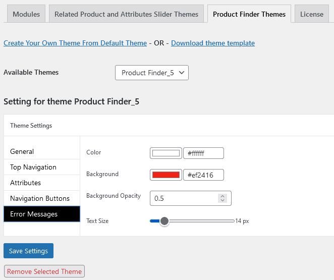 Growanize product finder themes