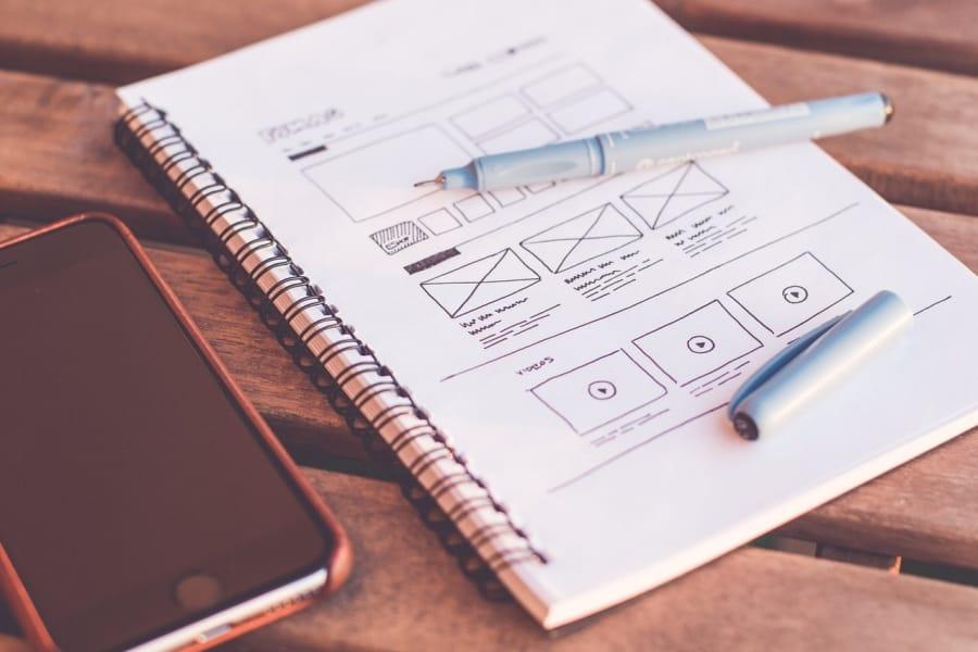 Design of website in notepad
