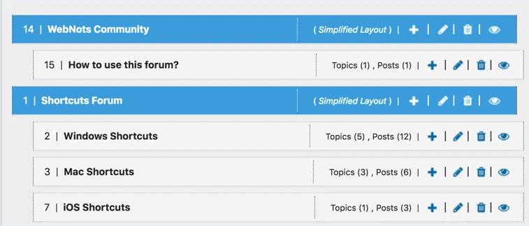 wpForo Forum creating a forum