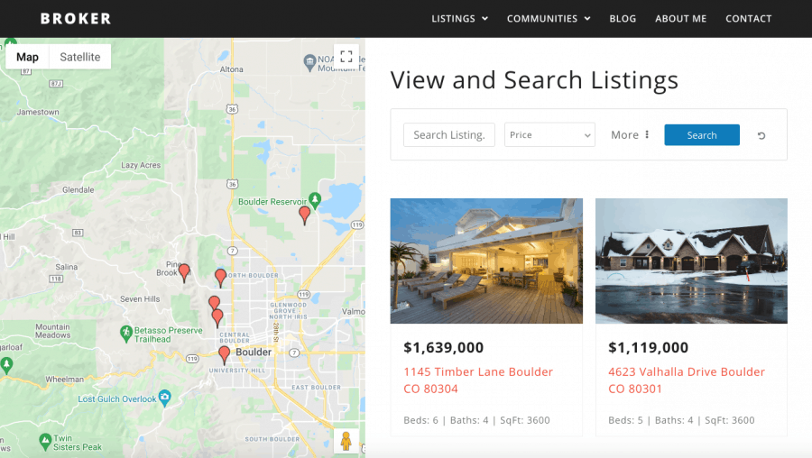 Full search interface