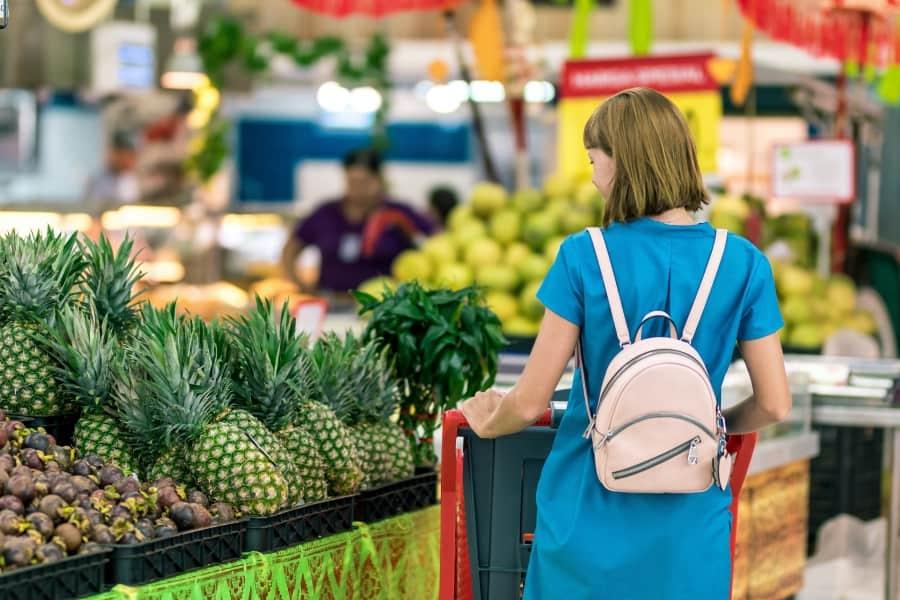 Person in market